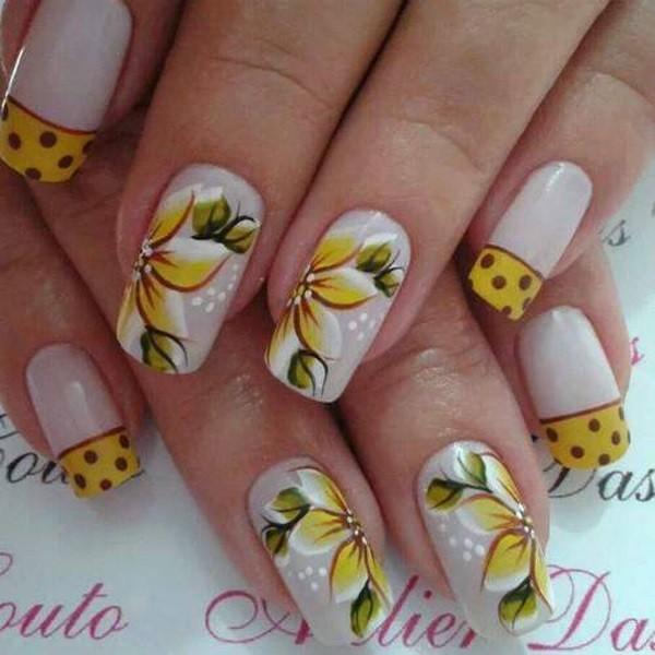 unha decorada-flor-noivas-fotos –com lacinho-passo a passo fácil de fazer